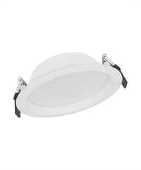 Downlight LED Alu IP44 14W 3000K 1.190lm Ø160 Hvid