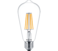 Filament LED ST64 8W/827 (60W) Klar Dæmp E27 Philips