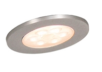 MultiWhite LED 2,3W Ø70mm børstet stål 2100-6500K